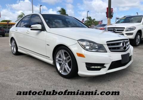 2012 Mercedes-Benz C-Class for sale at AUTO CLUB OF MIAMI, INC in Miami FL