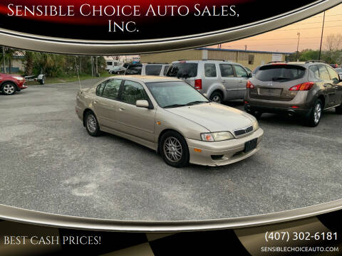 1999 Infiniti G20 for sale at Sensible Choice Auto Sales, Inc. in Longwood FL