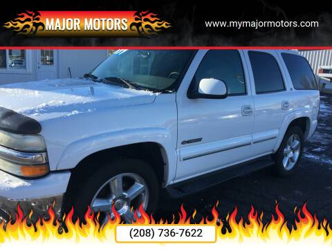 2002 Chevrolet Tahoe for sale at Major Motors in Twin Falls ID