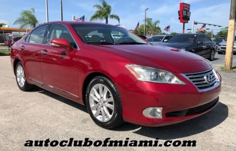 2010 Lexus ES 350 for sale at AUTO CLUB OF MIAMI, INC in Miami FL
