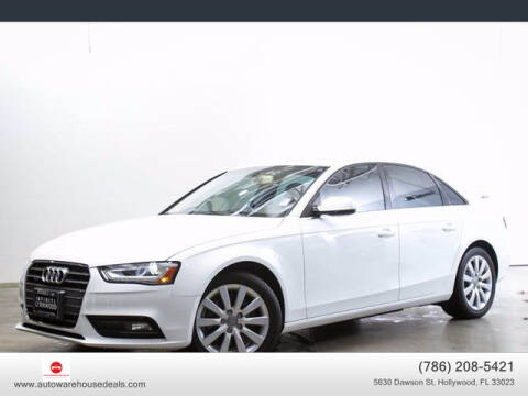 2013 Audi A4 for sale at Auto Warehouse Deals in Hollywood FL