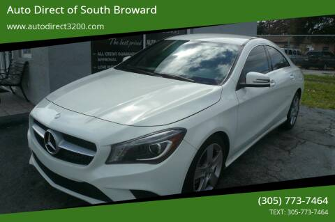 2016 Mercedes-Benz CLA for sale at Auto Direct of South Broward in Miramar FL