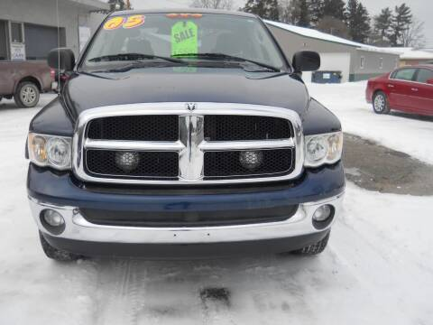 2005 Dodge Ram Pickup 1500 for sale at Shaw Motor Sales in Kalkaska MI