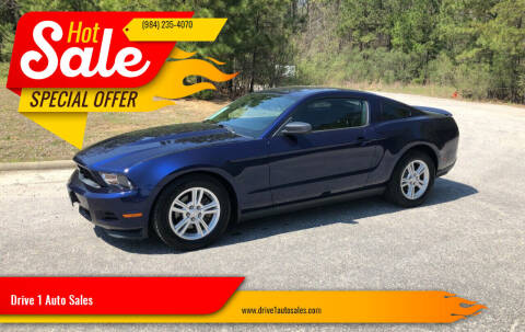 2011 Ford Mustang for sale at Drive 1 Auto Sales in Wake Forest NC