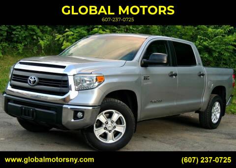 2015 Toyota Tundra for sale at GLOBAL MOTORS in Binghamton NY