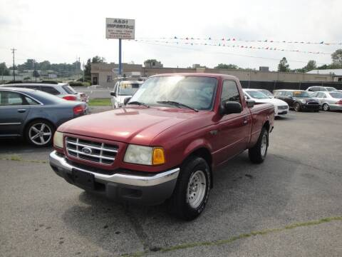 2002 Ford Ranger for sale at A&S 1 Imports LLC in Cincinnati OH