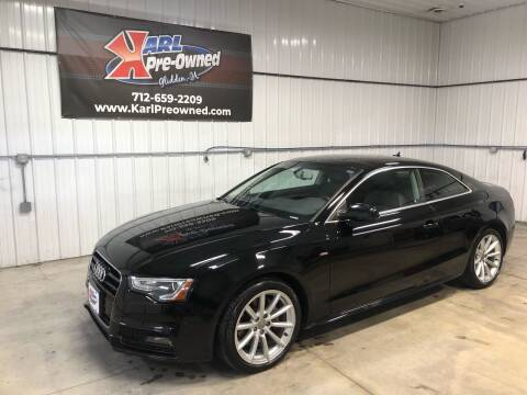 2016 Audi A5 for sale at Karl Pre-Owned in Glidden IA