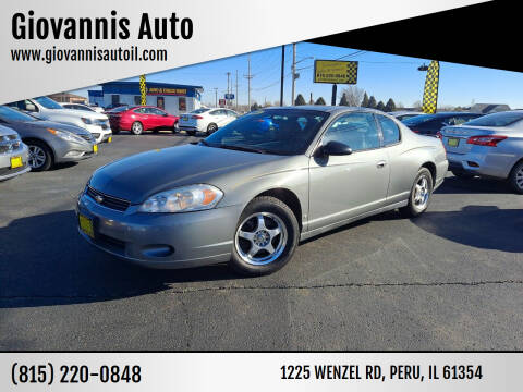 2007 Chevrolet Monte Carlo for sale at Giovannis Auto in Peru IL