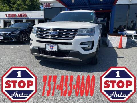 2016 Ford Explorer for sale at 1 Stop Auto in Norfolk VA