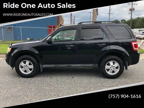 2010 Ford Escape for sale at Ride One Auto Sales in Norfolk VA