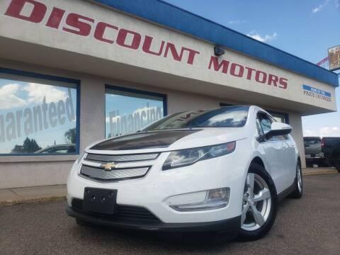 2012 Chevrolet Volt for sale at Discount Motors in Pueblo CO