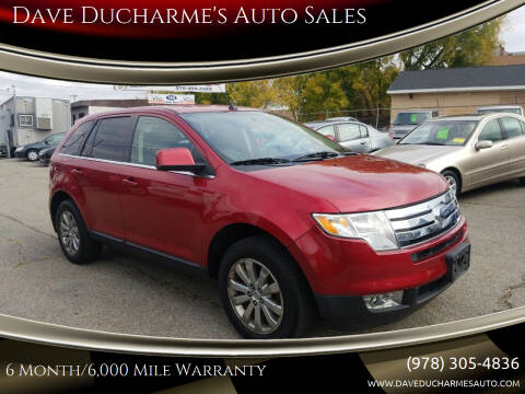 2008 Ford Edge for sale at Dave Ducharme's Auto Sales in Lowell MA