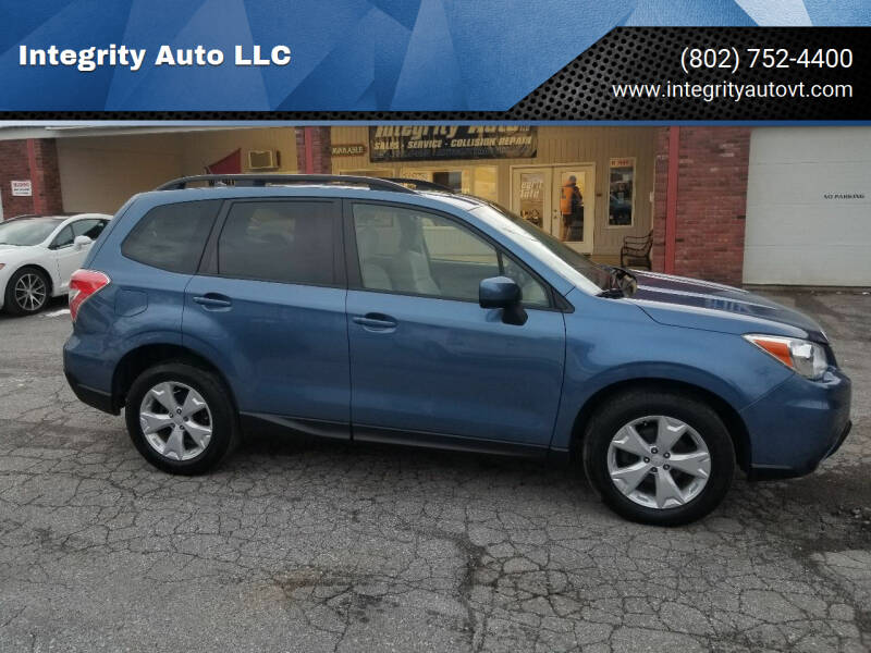 2015 Subaru Forester for sale at Integrity Auto LLC - Integrity Auto 2.0 in St. Albans VT