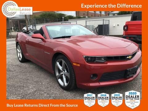 2015 Chevrolet Camaro for sale at Dallas Auto Finance in Dallas TX