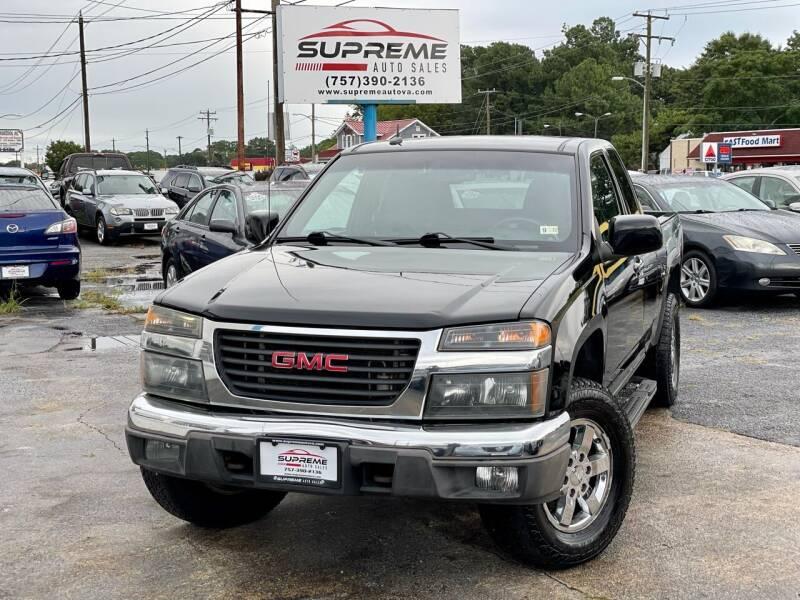 2010 GMC Canyon for sale at Supreme Auto Sales in Chesapeake VA