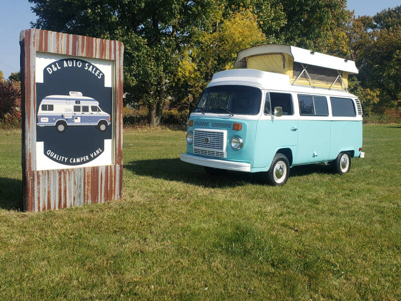 1975 Volkswaged Transporter Kombi Pop Top Camper Van for sale at D & L Auto Sales in Wayland MI