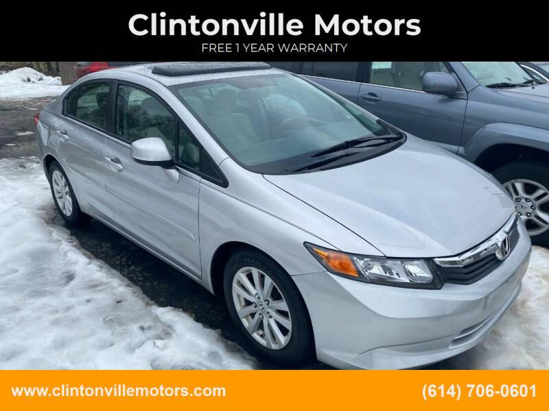 2012 Honda Civic for sale at Clintonville Motors in Columbus OH
