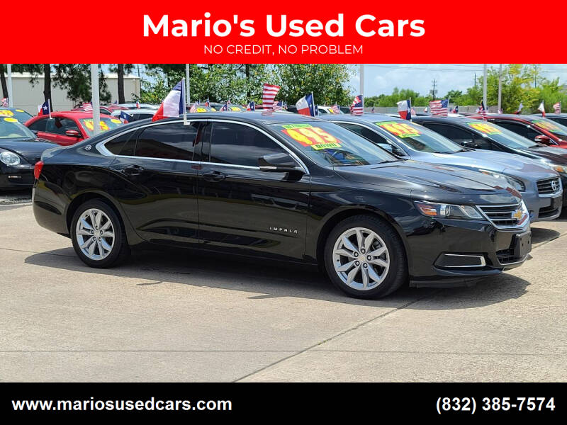 2016 Chevrolet Impala for sale at Mario's Used Cars in Houston TX