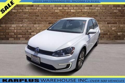 2016 Volkswagen e-Golf for sale at Karplus Warehouse in Pacoima CA
