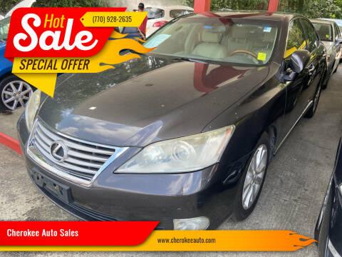 2012 Lexus ES 350 for sale at Cherokee Auto Sales in Acworth GA