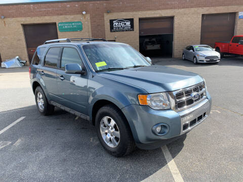 2011 Ford Escape for sale at Ric's Auto Sales in Billerica MA