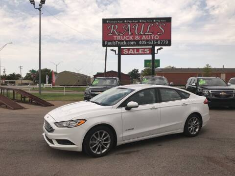 2017 Ford Fusion Hybrid for sale at RAUL'S TRUCK & AUTO SALES, INC in Oklahoma City OK