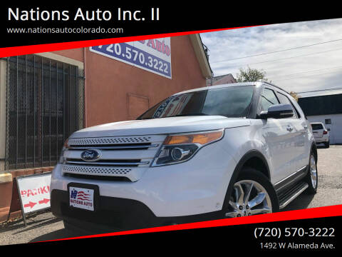 2012 Ford Explorer for sale at Nations Auto Inc. II in Denver CO