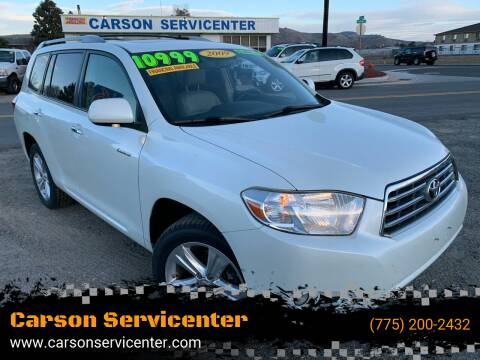 2009 Toyota Highlander for sale at Carson Servicenter in Carson City NV