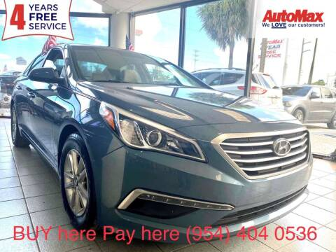 2015 Hyundai Sonata for sale at Auto Max in Hollywood FL