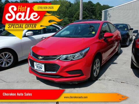 2017 Chevrolet Cruze for sale at Cherokee Auto Sales in Acworth GA
