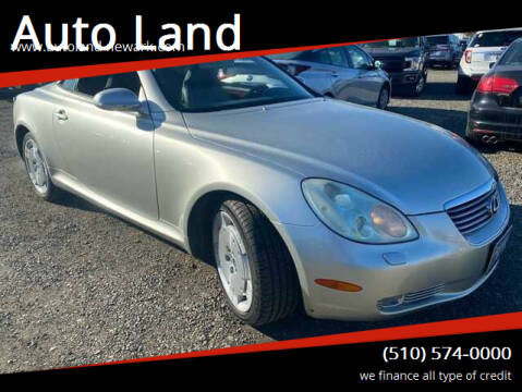 2003 Lexus SC 430 for sale at Auto Land in Newark CA