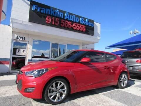 2016 Hyundai Veloster for sale at Franklin Auto Sales in El Paso TX