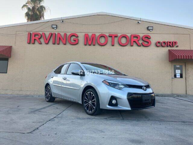 2015 Toyota Corolla for sale at Irving Motors Corp in San Antonio TX