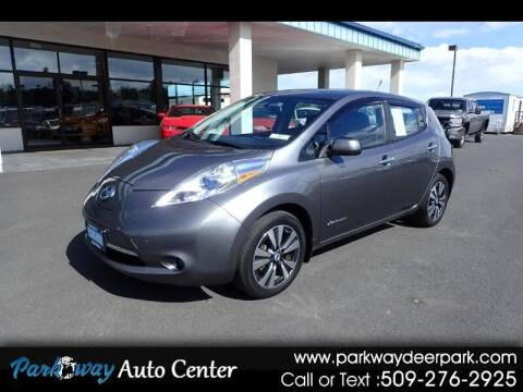 2014 Nissan LEAF for sale at PARKWAY AUTO CENTER AND RV in Deer Park WA