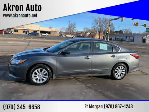 2018 Nissan Altima for sale at Akron Auto in Akron CO