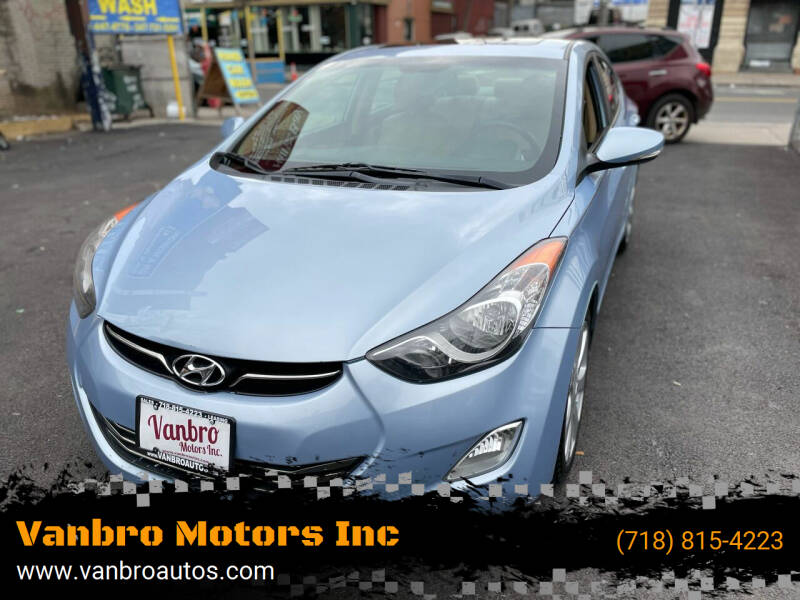 2012 Hyundai Elantra for sale at Vanbro Motors Inc in Staten Island NY
