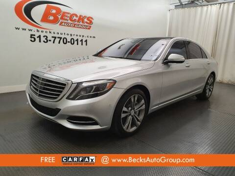 2015 Mercedes-Benz S-Class for sale at Becks Auto Group in Mason OH