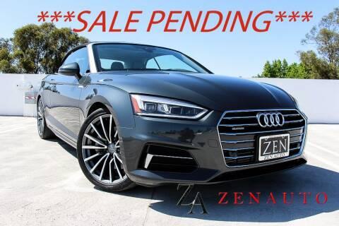 2018 Audi A5 for sale at Zen Auto Sales in Sacramento CA