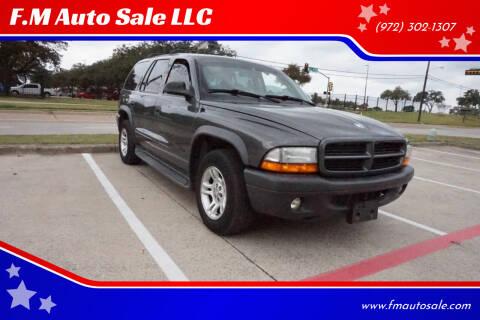 2003 Dodge Durango for sale at F.M Auto Sale LLC in Dallas TX