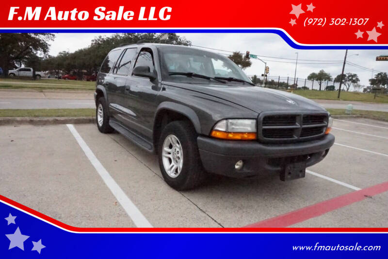 2003 Dodge Durango for sale at F.M Auto Sale LLC in Dallas TX