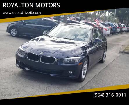 2015 BMW 3 Series for sale at ROYALTON MOTORS in Plantation FL