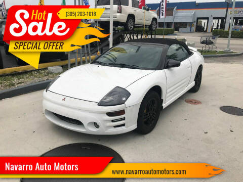 2003 Mitsubishi Eclipse Spyder for sale at Navarro Auto Motors in Hialeah FL