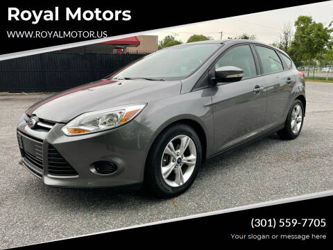 2013 Ford Focus for sale at Royal Motors in Hyattsville MD