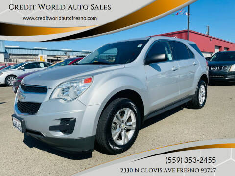 2012 Chevrolet Equinox for sale at Credit World Auto Sales in Fresno CA
