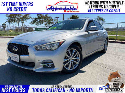 2014 Infiniti Q50 for sale at Affordable Auto Solutions in Wilmington CA