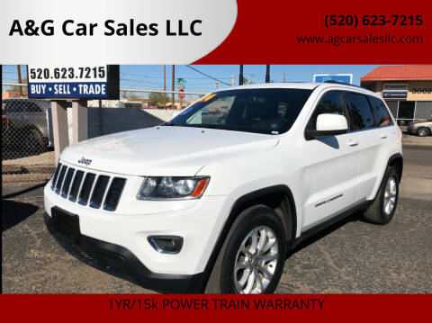 2014 Jeep Grand Cherokee for sale at A&G Car Sales  LLC in Tucson AZ
