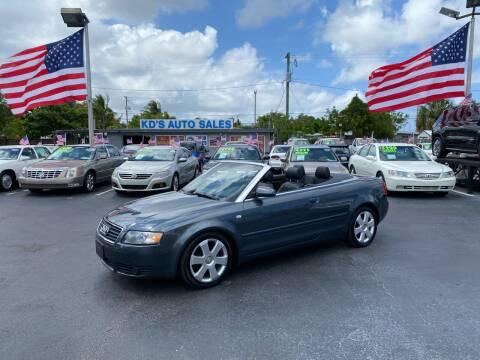 2006 Audi A4 for sale at KD's Auto Sales in Pompano Beach FL