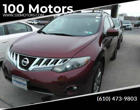 2009 Nissan Murano for sale at 100 Motors in Bechtelsville PA