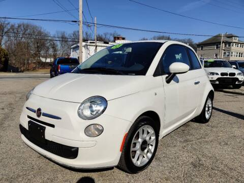 2013 FIAT 500 for sale at Porcelli Auto Sales in West Warwick RI