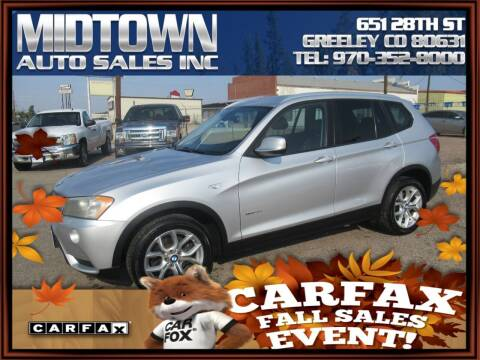 2011 BMW X3 for sale at MIDTOWN AUTO SALES INC in Greeley CO